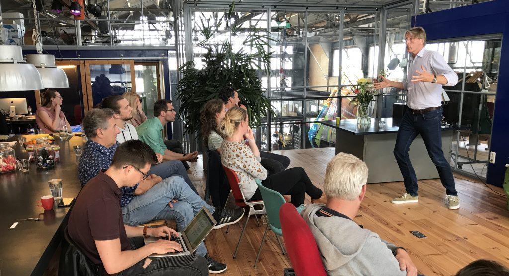 Menno Weij op de Sport Innovatie Meetup over het gebruik van data en privacy